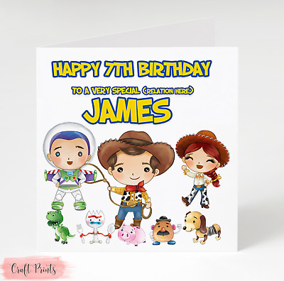 Toy Story Personalised Birthday Card Add Name Age Relation