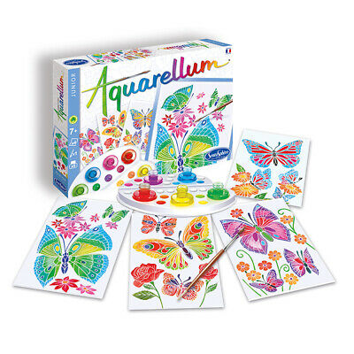 Aquarellum Junior Painting By Numbers, Butterflies and Flowers - Kids Art Sets