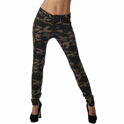 Crazy Age Damen - Camouflage Jeggings Leggings | Sportlich Bequem Sexy | XS - XL