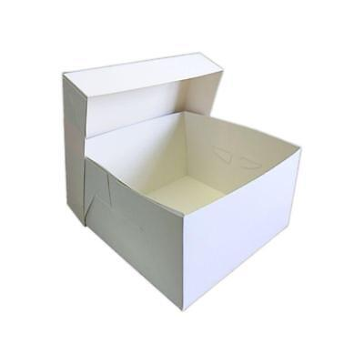 """10 x 11"""" WHITE STAPLESSS CAKE BOXES WITH SEPERATE LID - WEDDING BIRTHDAY CAKES"""