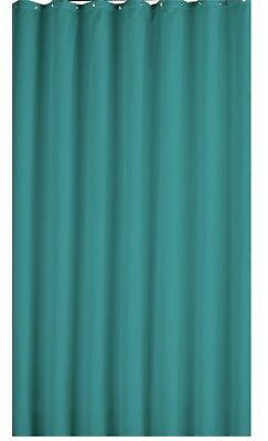100% Polyester Teal Shower Curtains With Metal Rings Included