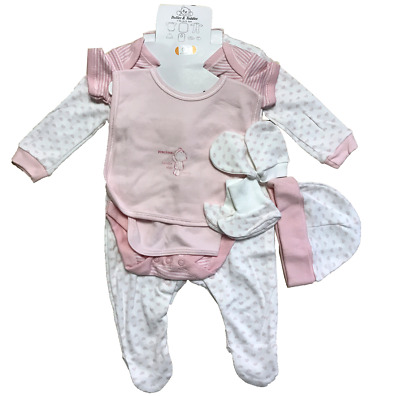 NEW 7 PIECE BABY GIFT SETS Pink Newborn & 0-3 Month Girls SALE CLEARANCE