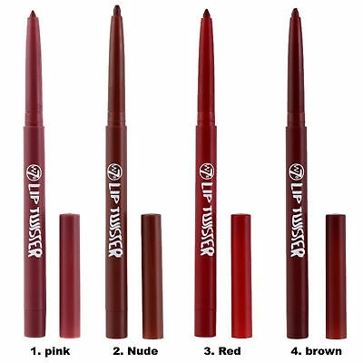 w7 LIP TWISTER Lip Liner Easy Twist Pencil Crayon Red Nude Brown Pink Sealed