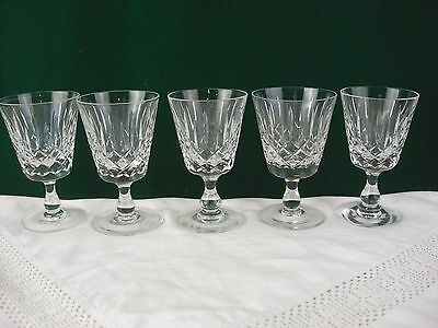 A set of 5 hand made lead crystal glasses by Edinburgh & Leith Crystal Ref G2