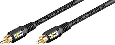 goobay Cinch Cable subwooferkabel HQ Cable A/V Gold Plated Contacts 2x Plug