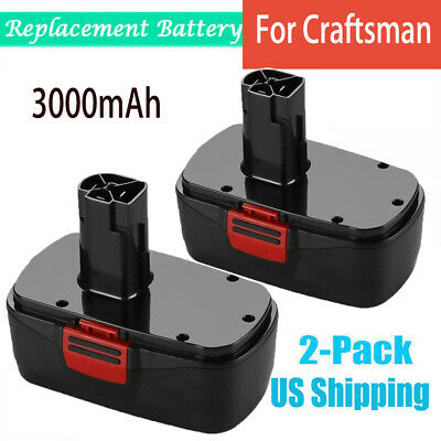 2X 3.0Ah For Craftsman 19.2V Diehard C3 Battery Ni-MH 130279005 315.115410 11375