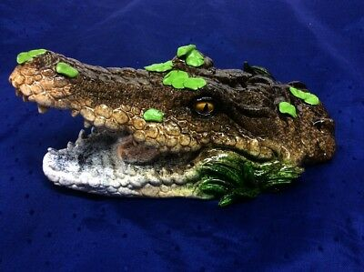 African crocodile / Alligator HEAD ~ Wildlife Figurine, Statue