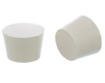 Solid Rubber Stopper - Size 9 - White - 45mm x 37mm x 30mm Long - Lab #9