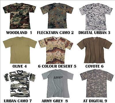 New Army Mens Military Camouflage Combat Camo T Shirt Shirts