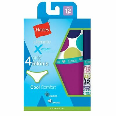 558aecd8c6d 4-Pack Hanes Girls Ultimate X-Temp Bikini Panties - Assorted Colors - Size