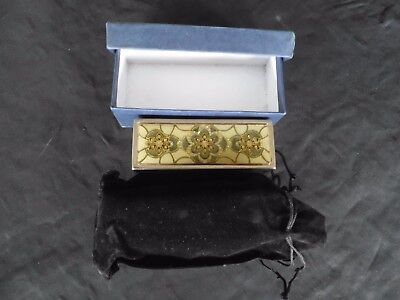 Vintage Lipstick Holder with Mirror Beautiful Design and Rhinestones from Greece