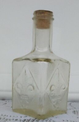 Vintage Glass Liquor Bottle 1960's Mancave Barware Home Decor