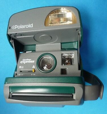 Polaroid Camera One Step Express Green 600 Film Plus Polaroid Bag 1 Film Pack