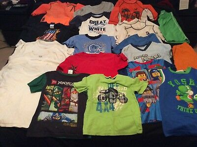Lot of 24 Mixed Tops and Shorts Boys Play Clothes Size 7-8