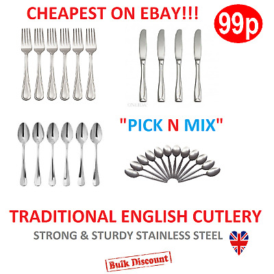 teaspoon Set ,soup spoons Stainless Steel Spoons knives and forks 4,6,8,12 pack