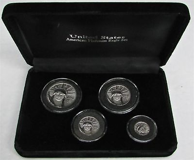 1998 Platinum Eagle Statue Of Liberty Mint State 4 Coin Set