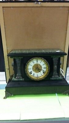 ANTIQUE SETH THOMAS ADAMANTINE MANTLE CLOCK #722 -- 1880 Patented DATE