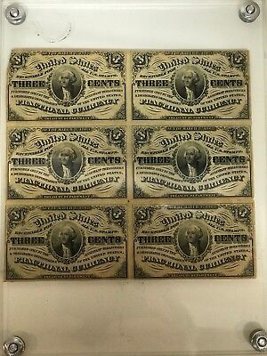 3 cent FRACTIONAL CURRENCY SHEET