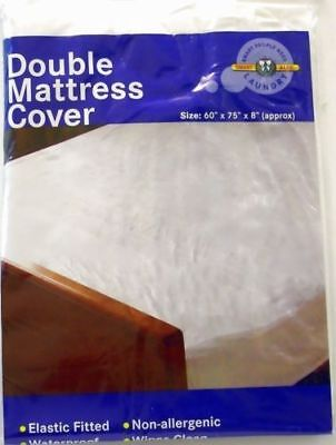 Waterproof Double Mattress Protector Cover Fitted Plastic Sheet Bed Wetting Wet