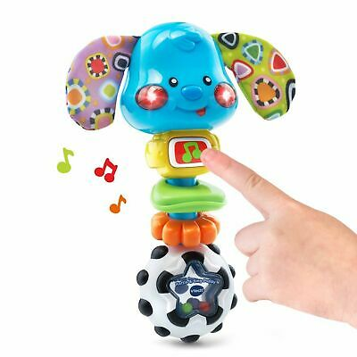 VTech Baby Rattle and Sing Puppy Easy-to-Grasp 20+ songs LR44 batteries included