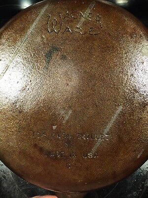 Vintage Wagner Ware #8  C 10 1/2 Inch Skillet Frying Pan Cast Iron Made In USA