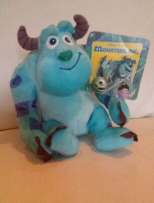 """Sulley from Monsters UniversIty Inc Soft Toy by Disney Pixar NEW  tags 8"""""""