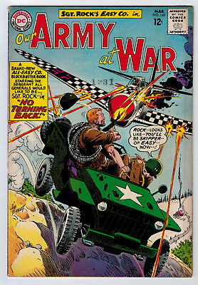 Our Army At War #140 5.0 3Rd All Sgt Rock Issue Manufacture Error 1964 Off-White