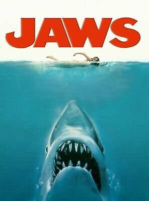 Jaws Movie Shark Poster 11 - Various Sizes + A Free Surprise A3 Poster