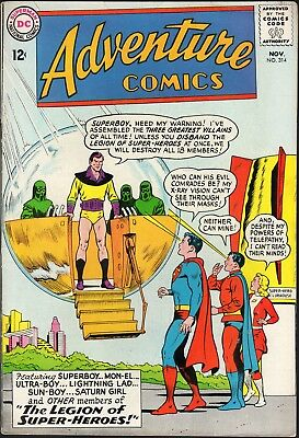 Adventure Comics # 314-1963-2-Pt Legion Of Super-Heroes Story-Dc Comics