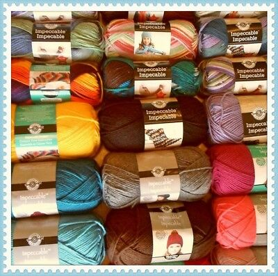 Loops & Threads Impeccable Yarn - Assorted Solid Colors (Lot of 3)