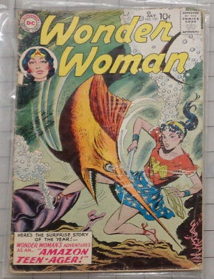 1st SERIES WONDER WOMAN issue 107. FIRST TIME with WW as TEENAGER!!