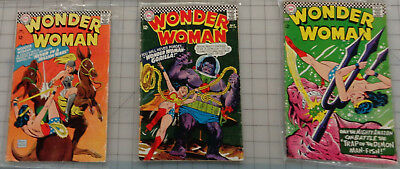 WONDER WOMAN First Series. Issues: 168, 170, 171 TV Series Reference! (1967)