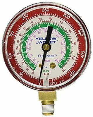Yellow Jacket 49001 red pressure gauge