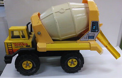"""Vintage Large Tonka Cement Mixer XMB-975 Truck Pressed Steel 19"""" Moving Parts"""