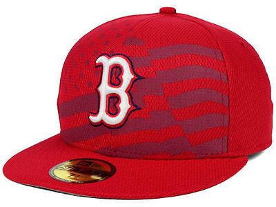innovative design b554c 56825 Boston Red Sox New Era 59FIFTY MLB July 4th Independence Day Cap Hat Size  7