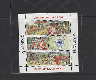 1984 Christmas Ausipex 84 Miniature Sheet. 30c, 55c, & 85c. Stamps. See Photo.