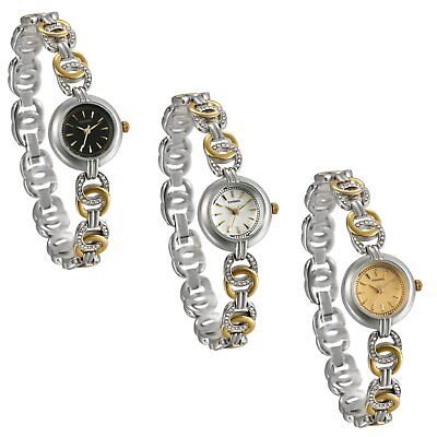 Stainless Steel Band Women Ladies Girls Quartz Wrist Watches Small Dial Bracelet