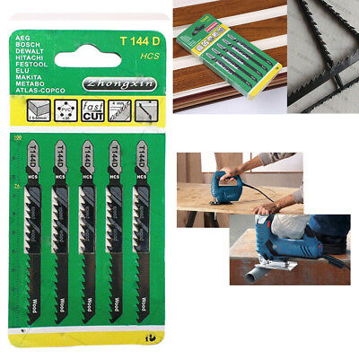 5Pcs Hacksaw Jig Saw Blade Set Cutting For Wood Sheet Panels Steel T244D Durable