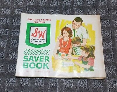 Vintage S&H GREEN STAMPS QUICK SAVER BOOKS
