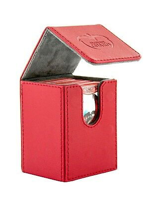 Ultimate Guard - FLIP DECK CASE XENOSKIN 80+ Red - Cards Boxing - Gaming Boxing