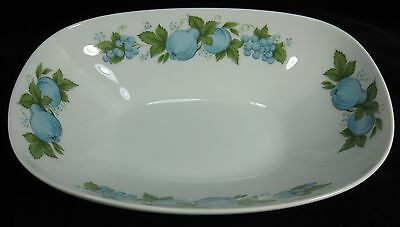 Noritake China  Serving Vegetable Bowl BLUE ORCHARD White with Blue Fruit