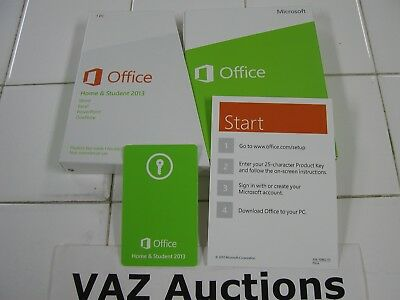 Microsoft Office 2013 Home and Student Product Key Card Full Retail English=NEW
