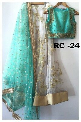BOLLYWOOD DESIGNER  LENGHA unSTITCHED  INDIAN ETHNIC INDIAN UK STOCK