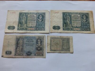 Bank of Poland POLISH BANKNOTES WWII PERIOD