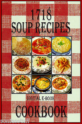 1718 Delicious Soup Recipes E-Book Cookbook CD-ROM