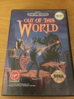 Out of This World (Sega Genesis, 1994) Complete In Box