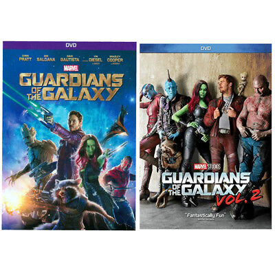 GUARDIANS OF THE GALAXY Vol 1 & Vol 2. One & Two (DVD) Bundle New Sealed US