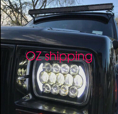 Pair HILUX LED UPGRADE HEAD LIGHT 5X7INCH HEADLIGHT REPLACEMENT HIgh low beam H4