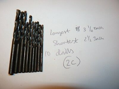 Metal Drills X 10 - Various Sizes - Engineering