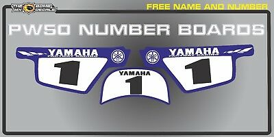 pw50 number boards backgrounds decals graphics yamaha   peewee laminated sticker